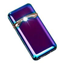 Csodaszép, elegáns USB öngyújtó kristálydísszel, aranyszín rátéttel - színjátszó