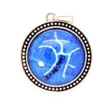 Nyitott Nyilas - nyaklánc a Nyilas csillagképpel - nagy medál