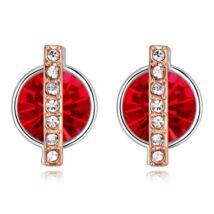 Vibrant hope - piros - Swarovski kristályos fülbevaló
