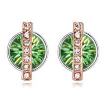 Vibrant hope - zöld- Swarovski kristályos fülbevaló