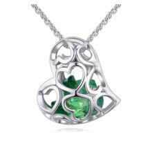 Kristályos szív - Swarovski kristályos nyaklánc - zöld