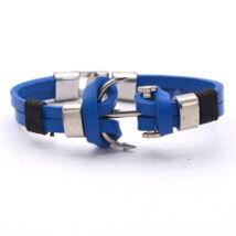 Anchorissime - horgony karkötő - valódi bőr, horgony motívumú - kék