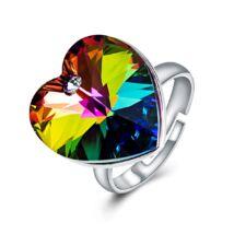 Szív-álom-csillogás - állítható méretű Swarovski kristályos gyűrű - Vitrail Medium