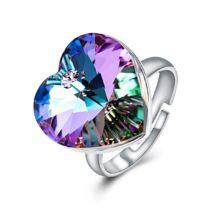 Szív-álom-csillogás - állítható méretű Swarovski kristályos gyűrű - Paradise Shine