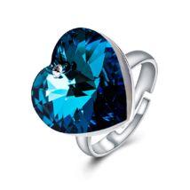 Szív-álom-csillogás - állítható méretű Swarovski kristályos gyűrű - Heliotrope