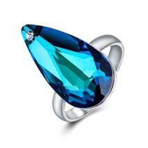 Könny és remény - állítható méretű Swarovski kristályos gyűrű - Heliotrope