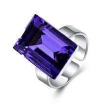 Ragyogó fény - állítható méretű Swarovski kristályos gyűrű - Purple Velvet