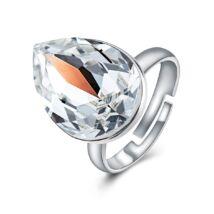 Ragyogó csepp - állítható méretű Swarovski kristályos gyűrű - Crystal