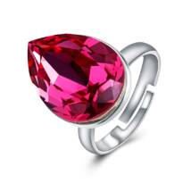Ragyogó csepp - állítható méretű Swarovski kristályos gyűrű - Rose