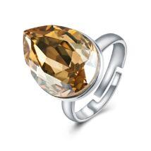Ragyogó csepp - állítható méretű Swarovski kristályos gyűrű - Colorado Topaz
