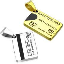 Hitelkártyák- PÁROSan - hátoldalon gravírozható nemesacél medál