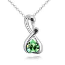Turbékolás mesterfokon- Swarovski kristályos nyaklánc - zöld