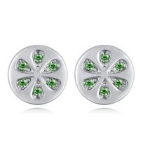Citrea -  zöld - Swarovski kristályos fülbevaló