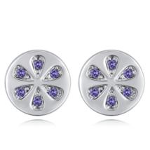 Citrea -  lila - Swarovski kristályos fülbevaló