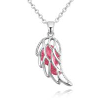 Angyali szárny - rózsaszín - Swarovski kristályos nyaklánc