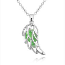 Angyali szárny - zöld - Swarovski kristályos nyaklánc