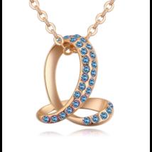 Bent snake- kék-arany kristályos nyaklánc