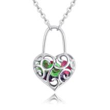 Szerelemlakat - Swarovski kristályos nyaklánc - színes