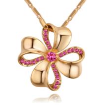 Szerencsehozó - Swarovski kristályos nyaklánc - arany, rózsaszín