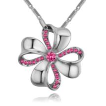 Szerencsehozó - Swarovski kristályos nyaklánc - ezüst, rózsaszín
