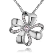 Szerencsehozó - Swarovski kristályos nyaklánc - ezüst, fehér
