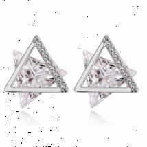 Delta -  Swarovski kristályos fülbevaló-ezüst