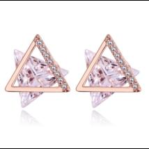 Delta -  Swarovski kristályos fülbevaló-arany