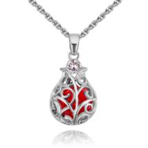 Baroque - piros - Swarovski kristályos nyaklánc