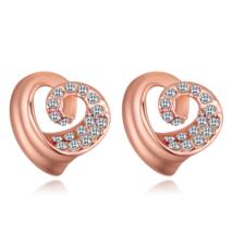 Spirálszív - fehér - Swarovski kristályos fülbevaló