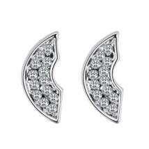 Semicirculo - fehér -  Swarovski kristályos fülbevaló