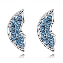 Semicirculo - kék színű -  Swarovski kristályos fülbevaló