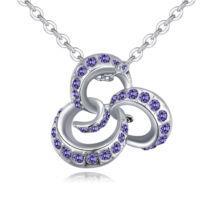 Octopus- lila- Swarovski kristályos nyaklánc