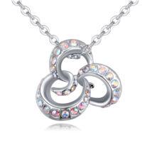 Octopus- színjátszó fehér Swarovski kristályos nyaklánc