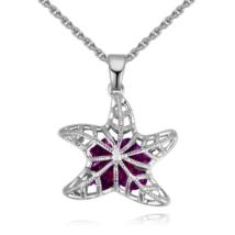 Starfish - lila - Swarovski kristályos nyaklánc