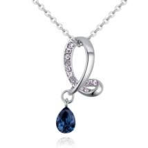 Droplet - kék - Swarovski kristályos nyaklánc