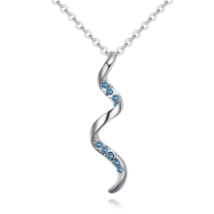 Spiralis - kék - Swarovski kristályos nyaklánc