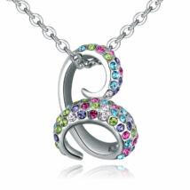 Bent snake- színes-ezüst kristályos nyaklánc