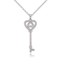 Dream key - Swarovski kristályos nyaklánc - ezüst