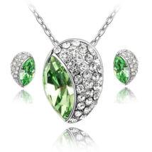 Huevos ékszerszett - zöld - Swarovski kristályos