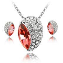 Huevos ékszerszett - piros - Swarovski kristályos