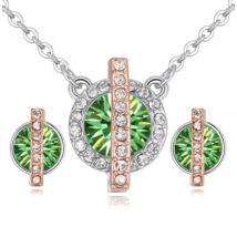 Vibrant Hope - zöld- Swarovski kristályos ékszerszett