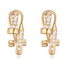 Arany kristály - fehér- Swarovski kristályos fülbevaló