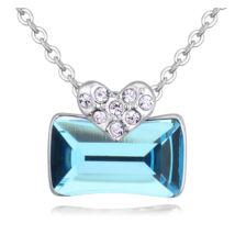 Ridikül- kék- Swarovski kristályos nyaklánc