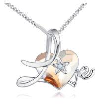 Csillagszív- pezsgőszín- Swarovski kristályos nyaklánc