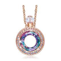 Perfume - Swarovski® kristályos nyaklánc kerek - lilás