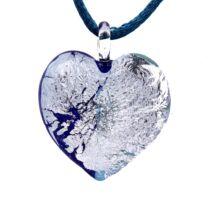 Passione - Muránói üveg medál - kék, ezüst 2.