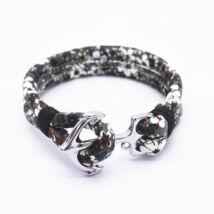 Anchorissime - Anchor horgony karkötő - ezüst - terepszín virágos