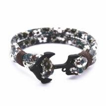 Anchorissime - Anchor horgony karkötő - fekete-terepszín virágos