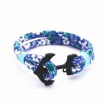 Anchorissime - Anchor horgony karkötő - fekete- kék virágos