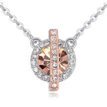 Vibrant Hope  - Swarovski kristályos nyaklánc - borostyán
